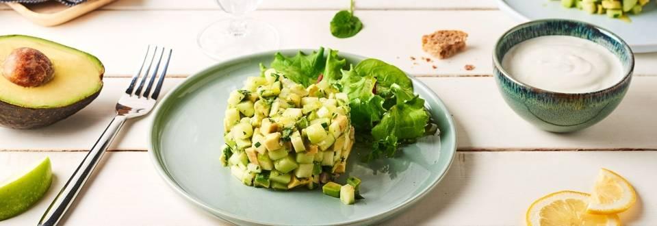 Tartare veggie green
