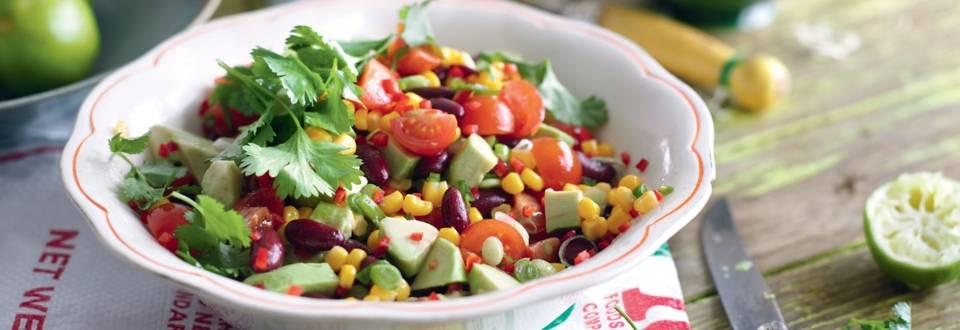 Salade mexicaine à l'avocat et haricots rouges