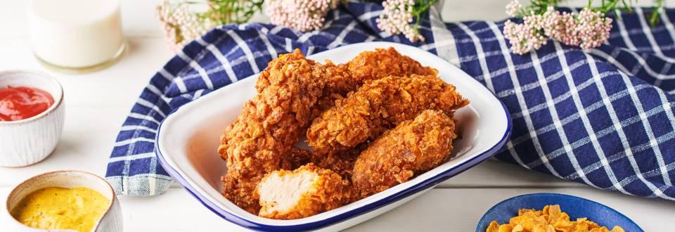 Panure de poulet ultra croustillante aux corn-flakes