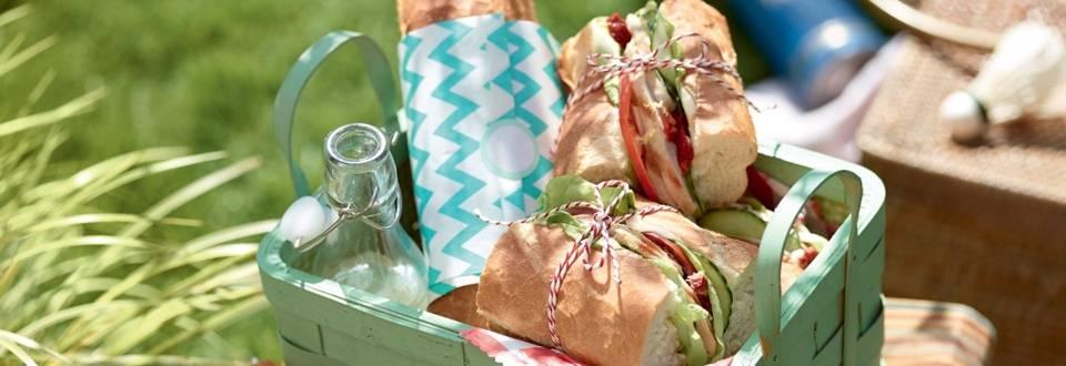 Sandwich baguette au poulet rôti