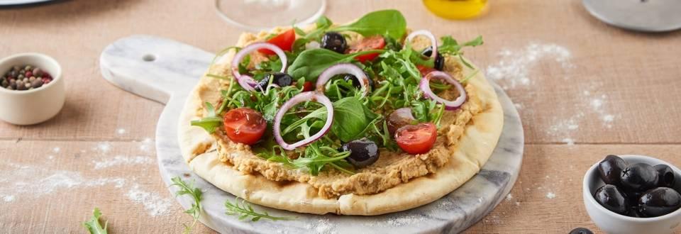 Pizza houmous
