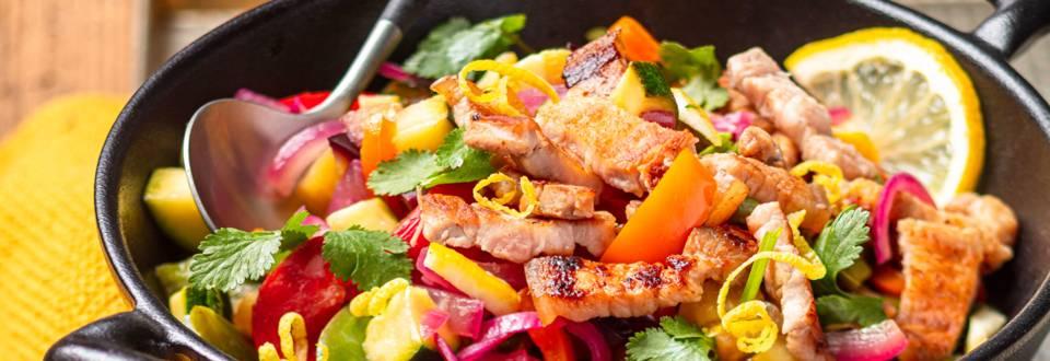 Poitrine de porc en wok coréen