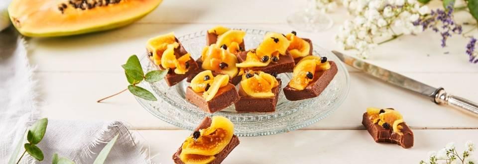 Fudge de chocolat et papaye