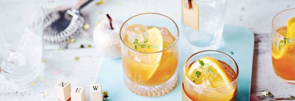 Whisky à l'orange et au thym