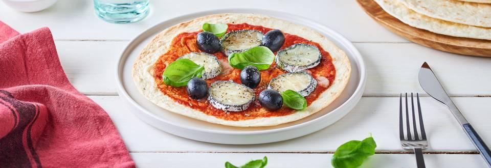 Pizzadillas chèvre et basilic