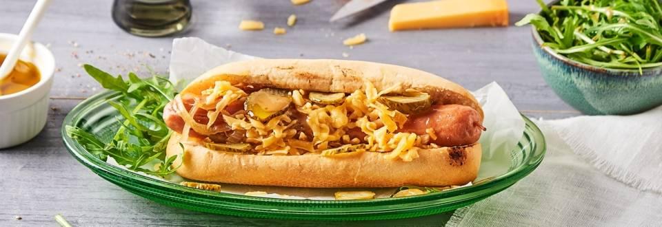 Hot dog au cidre