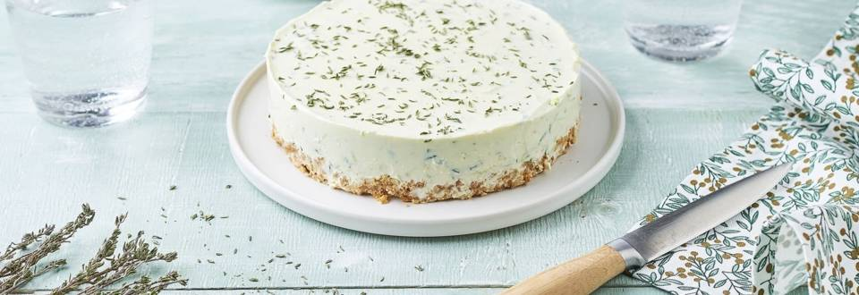 Cheesecake thym et courgettes