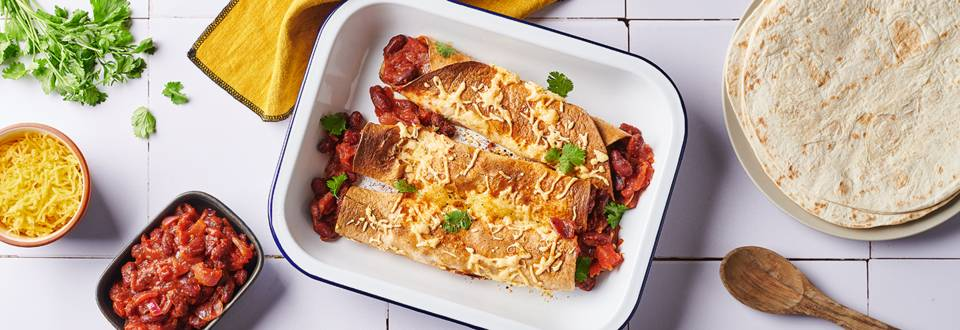 Enchiladas végétariennes au cheddar