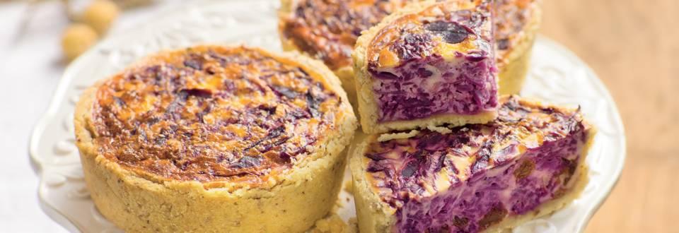 Tartelettes au chou rouge et fromage de chèvre