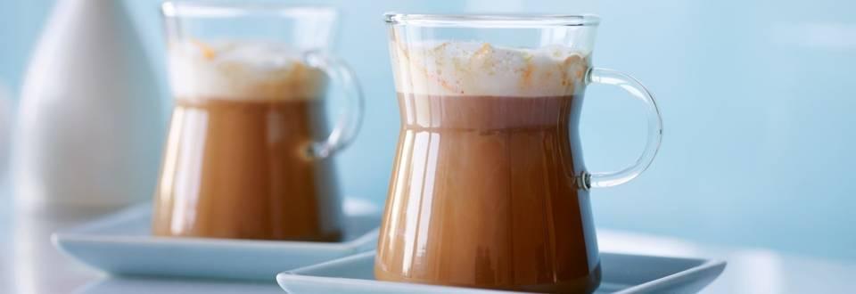 Café à l'orange avec mousse au gingembre