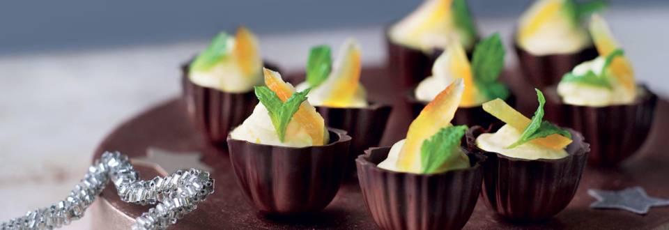 Coquille de chocolat à la mousse à l'orange