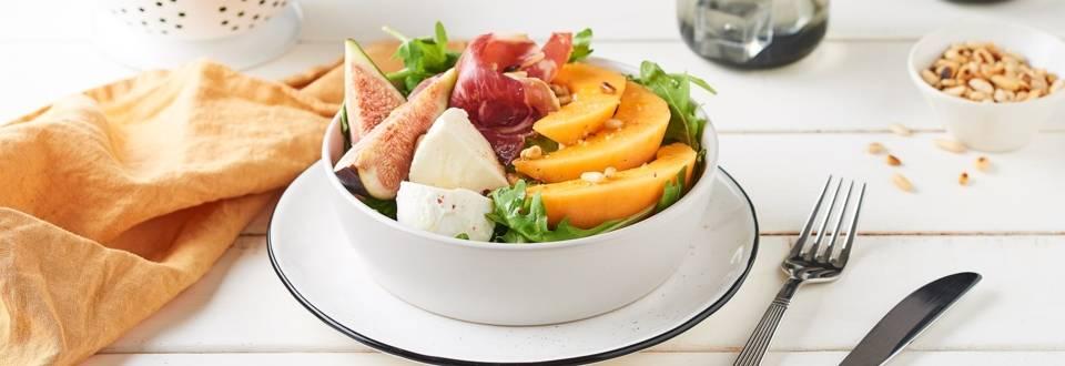 Salade figues, melon et roquette
