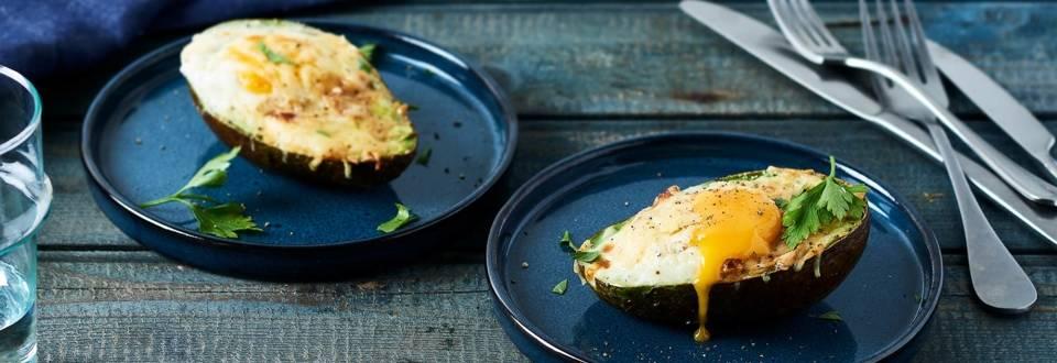 Avocat façon œuf cocotte
