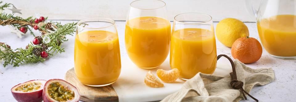 Cocktail mandarine, passion et citron