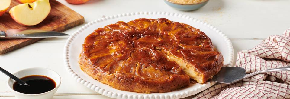 Gâteau vapeur aux pommes et caramel