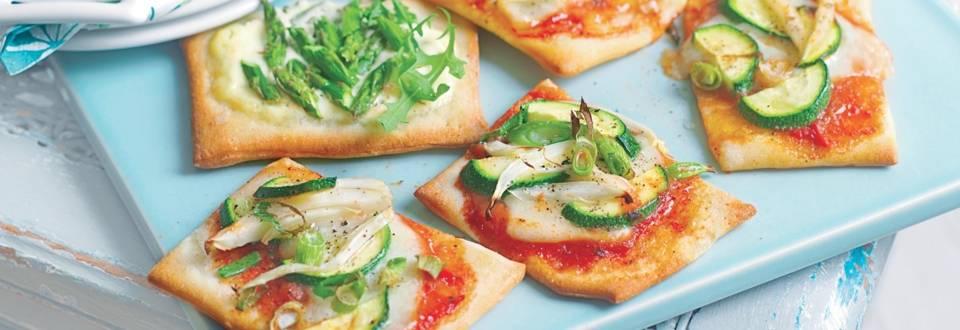 Mini pizzas aux légumes