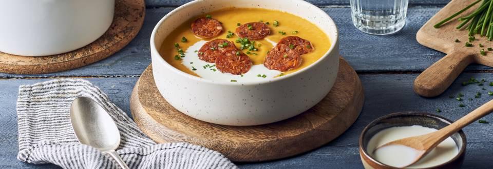 Soupe de potimarron et pommes de terre