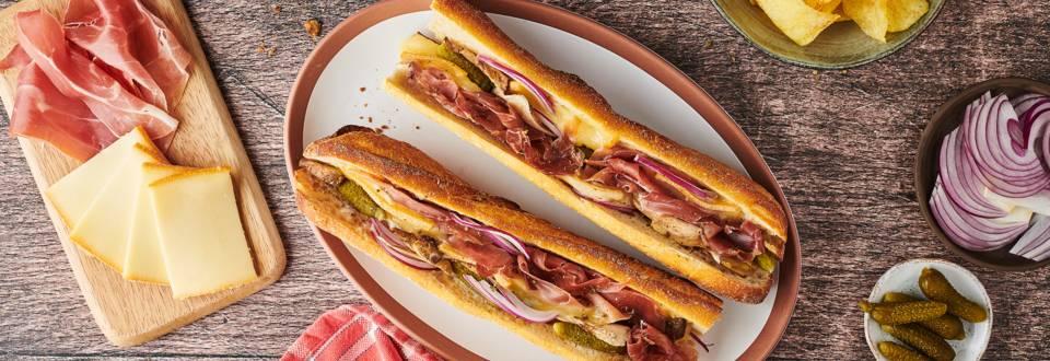 Sandwich chaud à la raclette