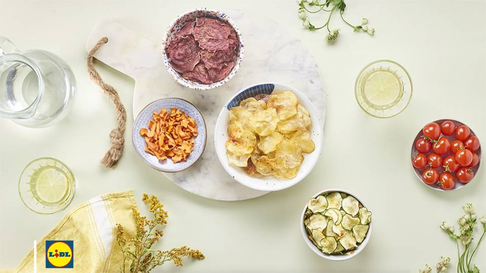 Chips de légumes maison