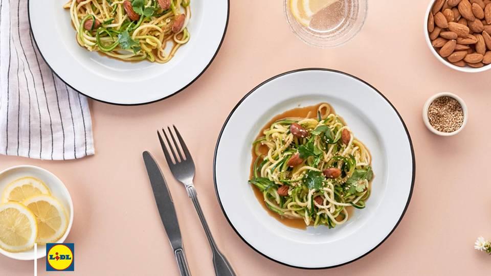 La recette des spaghetti de courgette