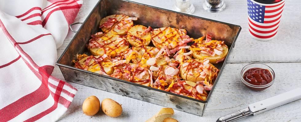 Potato rounds bacon cheddar