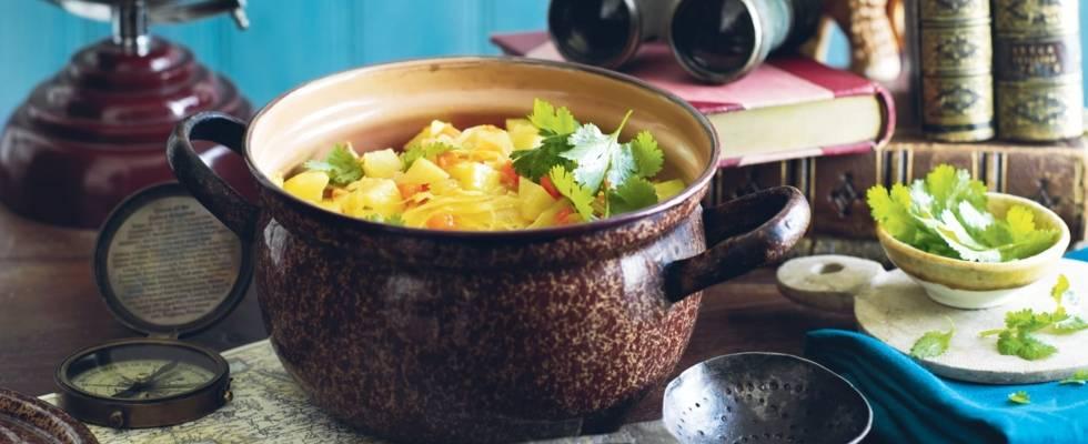 Potée de chou, pommes de terre et carottes
