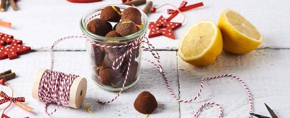 Truffes au chocolat et zeste de citron