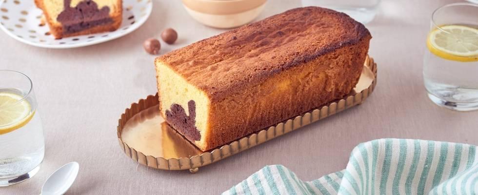 Cake au citron vert et insert lapin au chocolat