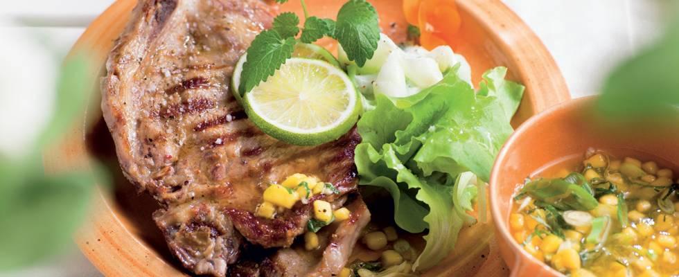 Côtes de porc sucré-salé à l'orientale