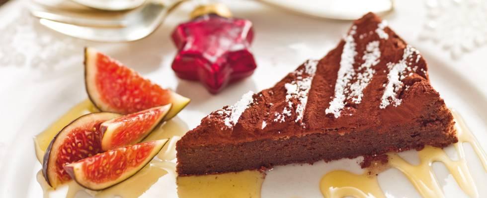 Tarte au chocolat et ses figues
