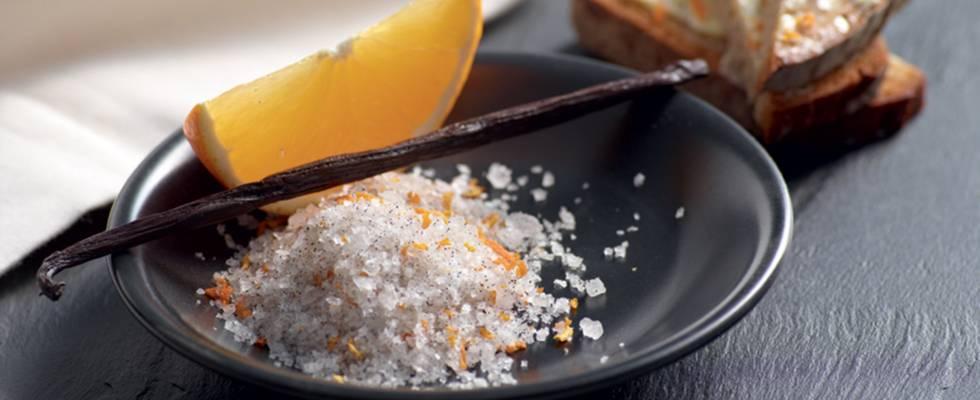 Fleur de sel à la vanille et à l'orange