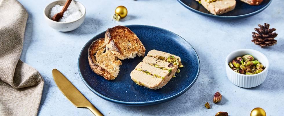 Nougat de foie gras aux pistaches